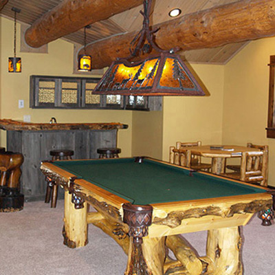 Big Sky Log Home Bar