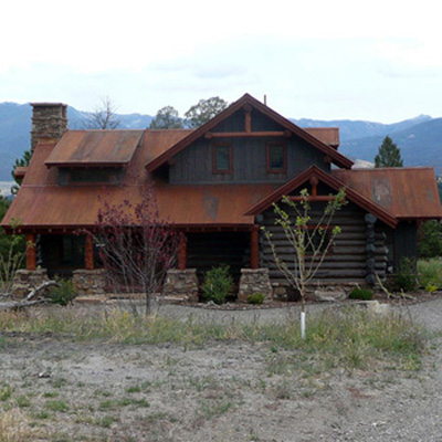 Grey Log Home, Gallatin Gateway, MT
