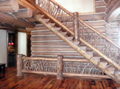 Big Sky MT Custom Log Staircase With Branches