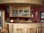 Bozeman, MT Log Home Bar
