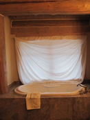 Bathtub in Log home, Big Sky MT