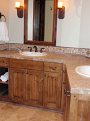 Custom Log Home, bathroom Counter