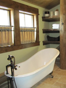 Bathroom in Log Home, Big Sky MT