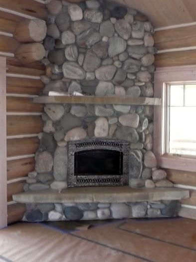 Fireplace rockwork hackbarth construction Decorative hearth